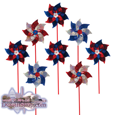Gifts - Summer - 8 Piece Patriotic Pinwheels