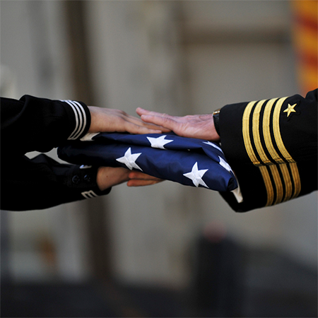 Official U.S. Veterans Administration Interment Flag