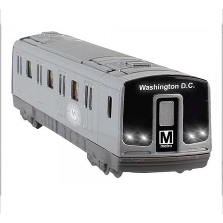 Metro Subway Rail Car Pullback Toy