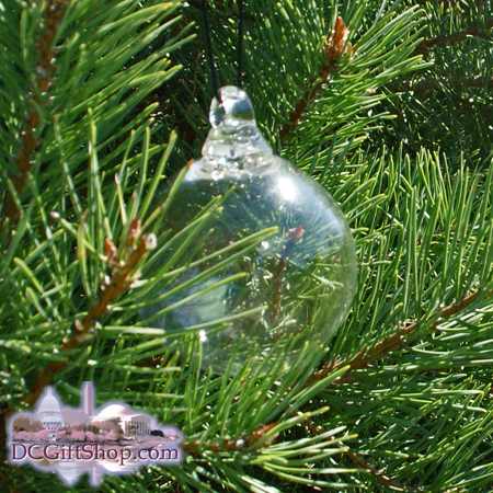 Clear Crystal Glass Ornament Craft - WHITE