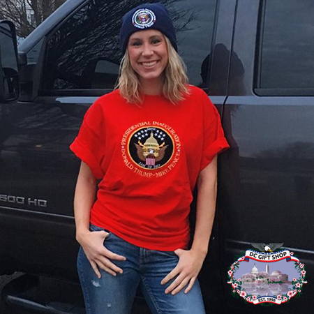 Red 58th Inauguration Shirt and Blue Inauguration Knit Hat