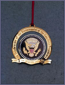 1989 Bicentennial of the Presidency Ornament