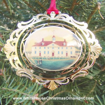 1993 Mount Vernon West Front Painting Circa 1792 Ornament