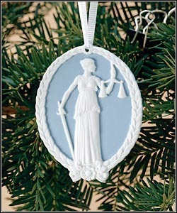 1999 Lady Justice Supreme Court Ornament