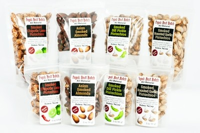 Mixed Case 3oz Bags of Nuts (6 each flavor)