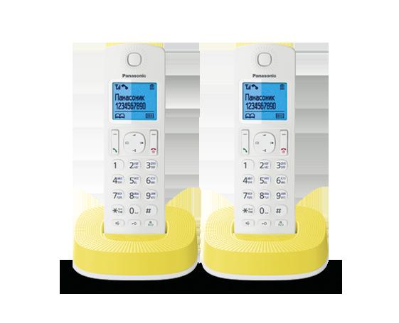 Радиотелефон Panasonic KX-TGC312RUY с двумя трубками