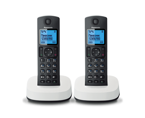 Радиотелефон Panasonic KX-TGC312RU2 с двумя трубками