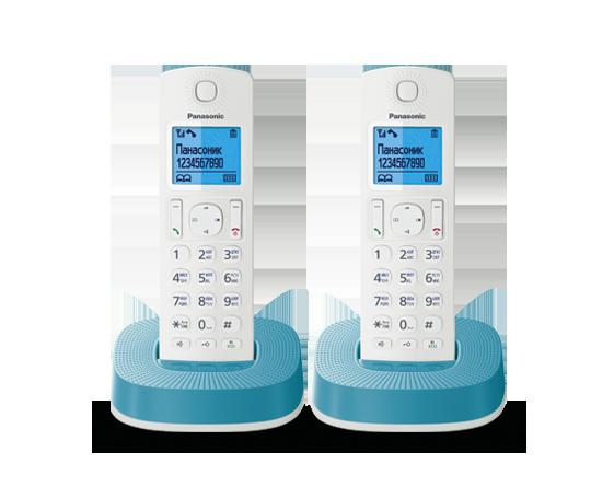 Радиотелефон Panasonic KX-TGC312RUC с двумя трубками