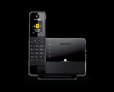 Радиотелефон премиум класса Panasonic KX-PRL260RUB с док-станцией для  iPhone с одной трубкой