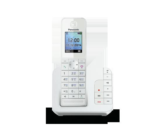 Цифровой беспроводной телефон с автоответчиком Panasonic KX-TGH220RUW с одной трубкой