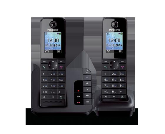 Цифровой беспроводной телефон с автоответчиком Panasonic KX-TGH222RUB с двумя трубками