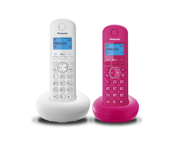 Цифровой беспроводный телефон Panasonic KX-TGB212RU1 с двумя трубками