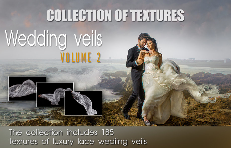 Collection of textures: Luxury lace wedding veils. VOL 2.
