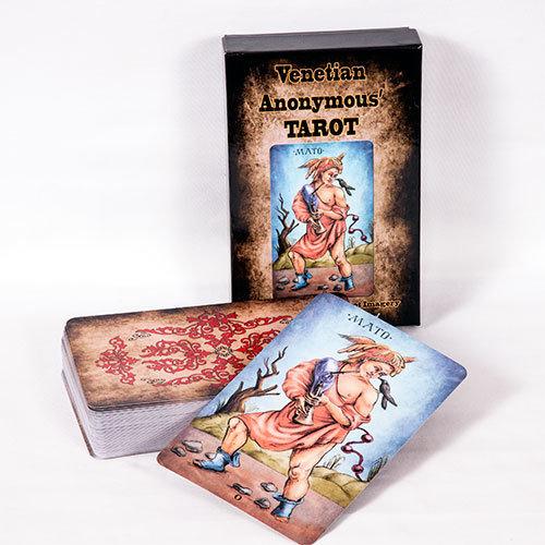 Venetian Anonymous Tarot, Sola Busca Tarot inspired (MAXI SIZE TAROT, FREE worldwide delivery)