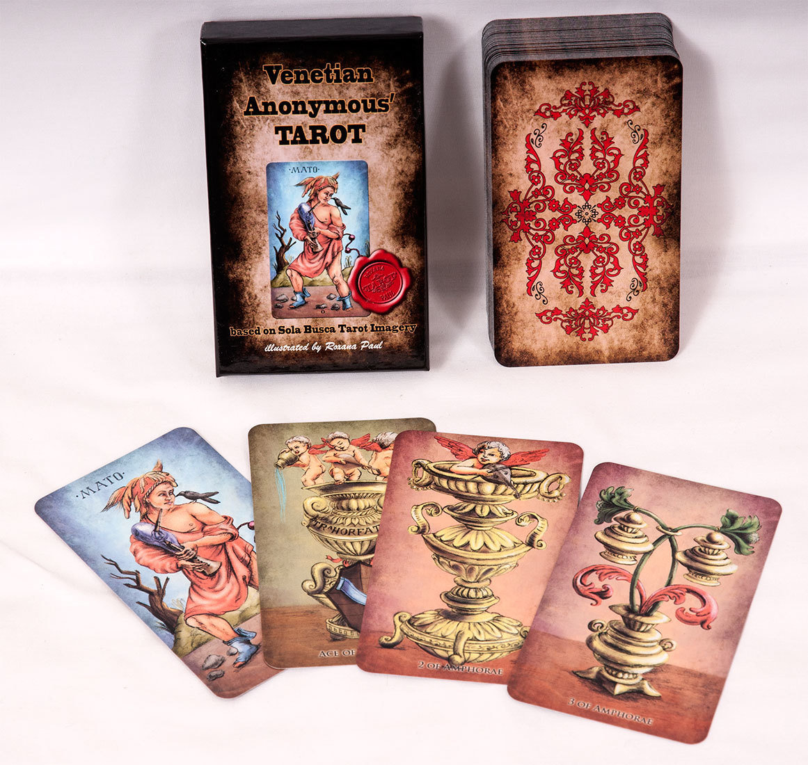 Venetian Anonymous Tarot, STANDARD SIZE, FREE SHIPPING WORLDWIDE, price in USD