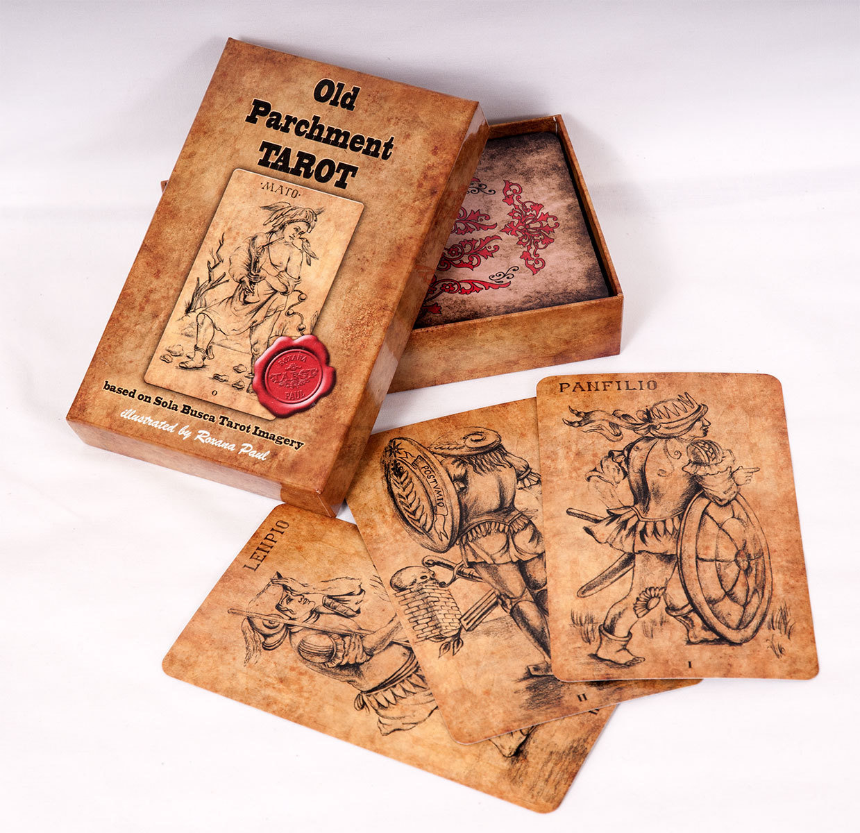 OLD PARCHMENT TAROT Sola Busca Tarot inspired (MAXI SIZE TAROT, FREE worldwide delivery)
