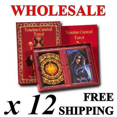Wholesale: 12 decks + free shipping, Venetian Carnival Tarot