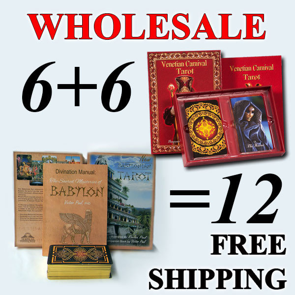 6+6 decks + free shipping, New Babylonian Tarot and Venetian Carnival Tarot