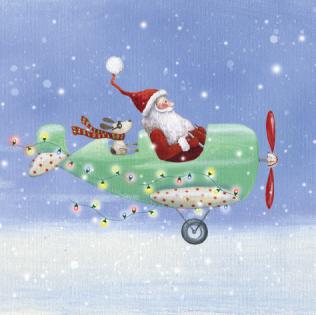 Flying Santa – pack of ten
