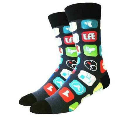 Men's Social Media Socks