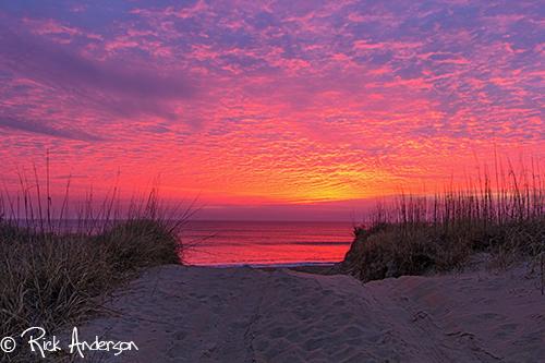 """""""Red Skies"""" Sunrise Kill Devil Hills, NC"""