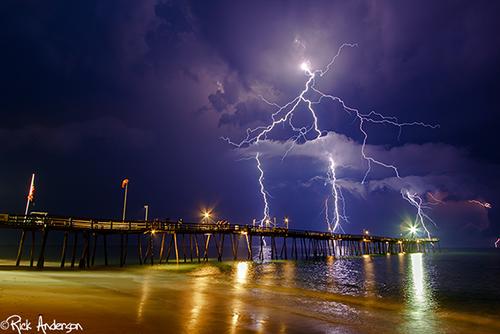 """""""Lightning Strikes"""" - Avalon Pier Kill Devil Hills, NC"""