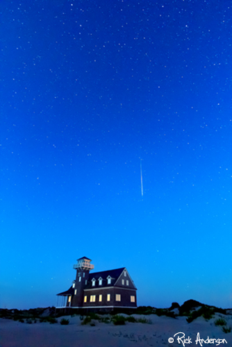 """""""Save the Best for Last"""" - Perseids Meteor over Oregon Inlet Life Saving Station"""