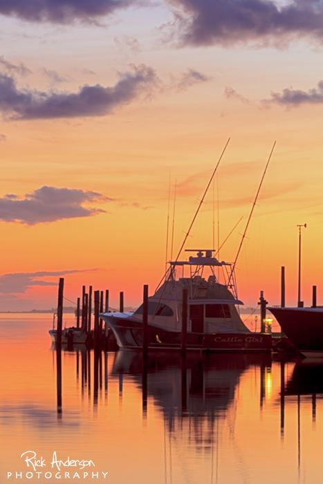 Sunset Oregon Inlet Fishing Center