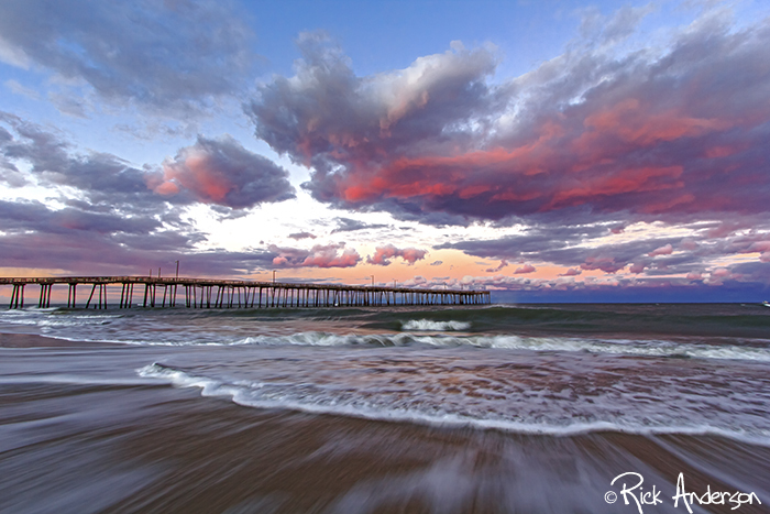 Winter Sunset at Nags Head Pier