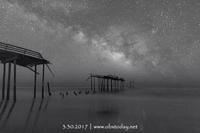 Milky Way over Frisco Pier