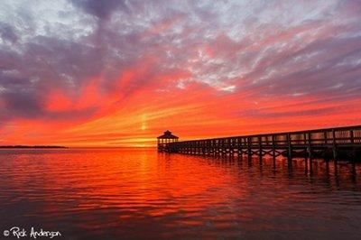 Sunset over Kitty Hawk Bay