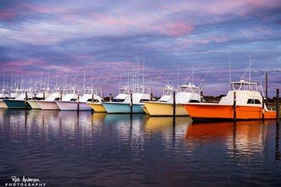 Sunset at Oregon Inlet Fishing Center