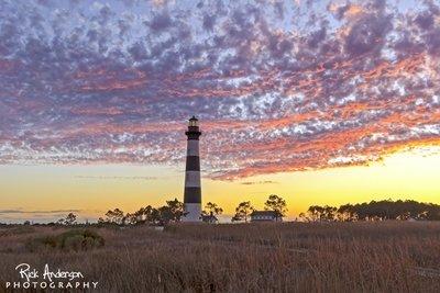 Autumn Sky -  Bodie Island Lighthouse
