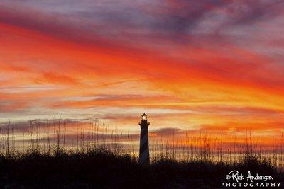 Winter Sky - Cape Hatteras Lighthouse