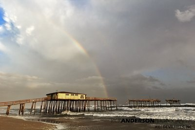 Rainbow over Frisco Pier