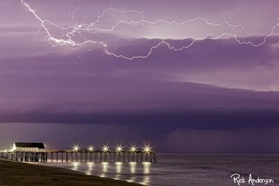 Lightning over Kitty Hawk Pier