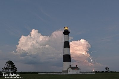 Lightning Strike Bodie Island Lighthouse