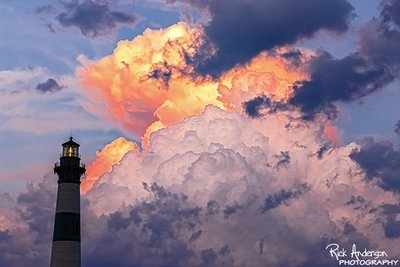 Cumulus Cloud Towering Bodie Island Lighthouse