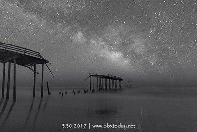 Milky Way over Frisco Pier