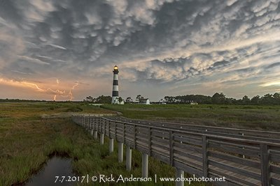 Mammatus Clouds over Bodie Island Lighthouse