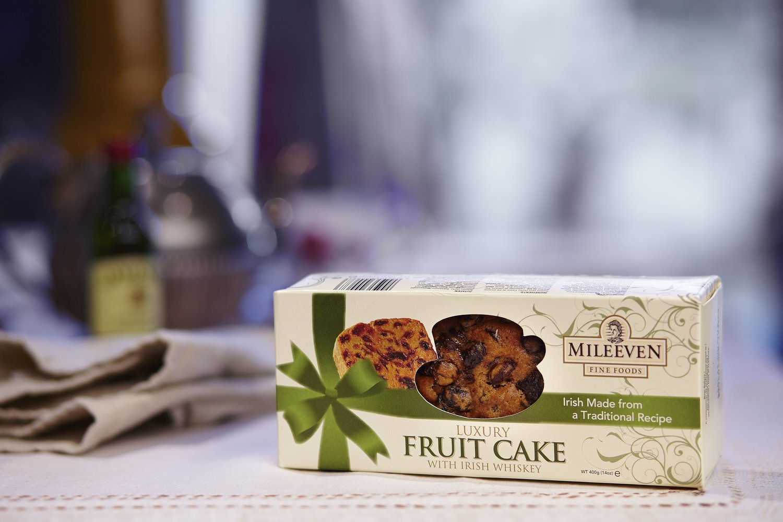 Mileeven Luxury Fruit Cake with Irish Whiskey