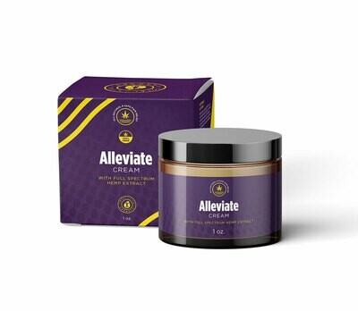 Alleviate CBD Hemp Oil Pain Relief Cream