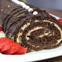 BUCHE AU CHOCOLAT / CHOCOLAT LOG CAKE 00017