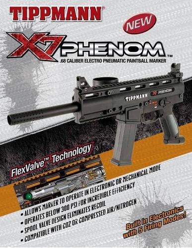Tippmann X7 Phenom Electronic + Pneumatic Paintball Marker