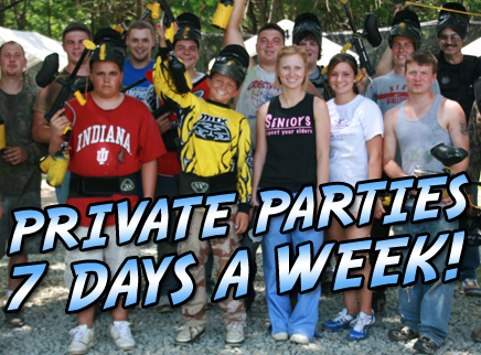 Private Play - 10 Players - .68 Recreational Rental Gear, Goggles, Park Addmission, Unlimited Air