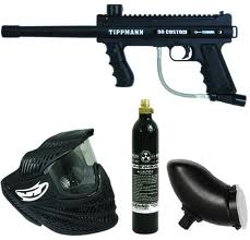 Sniper Rental Gun + Goggle, Planet Paintball Park Admission, 125 Paintballs,  Air & Tank