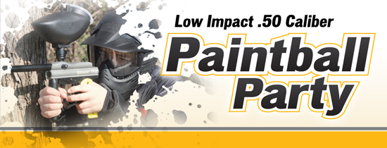 ".50 Paintball Lite ""Low Impact"" Semi-Auto Rental Gun + Mask + 500 count bag of .50 Caliber Paintballs + Unlimited Air + Planet Paintball Park Admission"