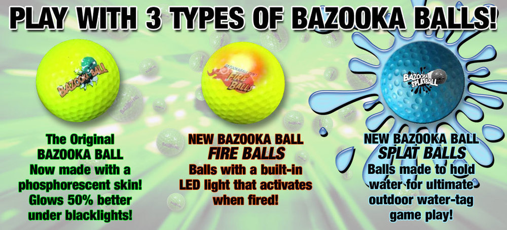 "Bazooka ""Foam"" Balls Assortment - Glow + Fire + Splat"