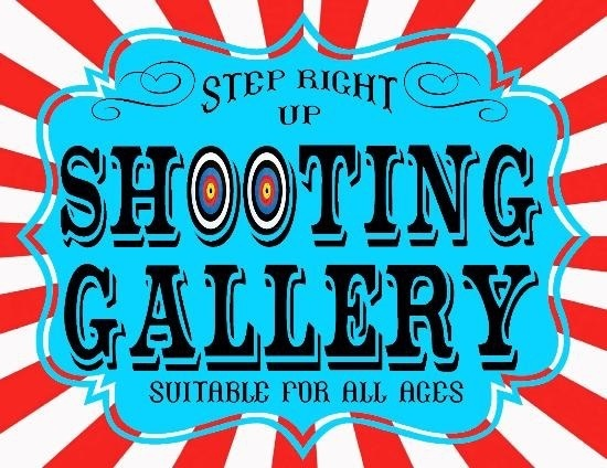 Shooting Gallery @ Your Special Events - Fun For All Ages - featuring no mess sponge balls or traditional paintballs