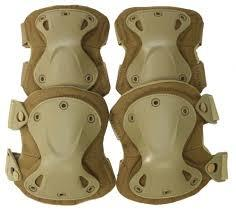 Tactical Knee + Elbow Pad Set Tan, Black or Green